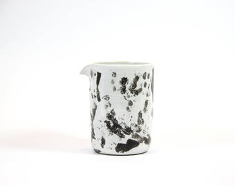 Black & white ceramic milk jug
