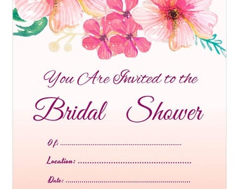 Tropical floral bridal shower- pink
