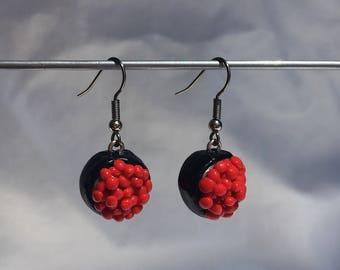 Ikura (salmon roe) earrings!