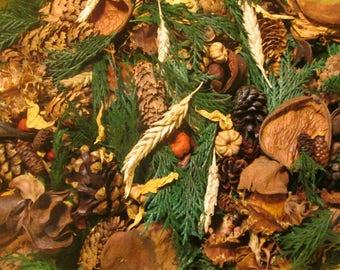 PUMPKIN BOURBON // Handcrafted Potpourri // Artisan Botanicals // Pumpkin Scent // Fall // Winter
