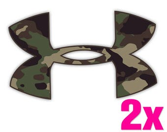 2x UNDER ARMOUR Camo Vinyl Decal Sticker for Car Truck Window Laptop Rare Unique New Camouflage