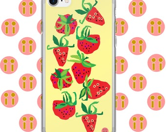 Pandii Strawberry Picnic iPhone Case 7, 7 Plus, 8, 8 Plus, 6, 6 Plus, 6s, 6s Plus, 5, 5s, SE