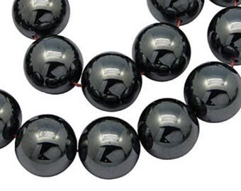 20 Hematite beads 10 mm ideal Shamballa