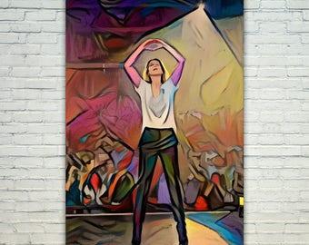 Celine Dion - Celine Poster,Celine Dion West Art,Celine Dion Print,Celine Dion Poster,Celine Dion Merch,Celine Dion Wall Art,Celine Fan Art