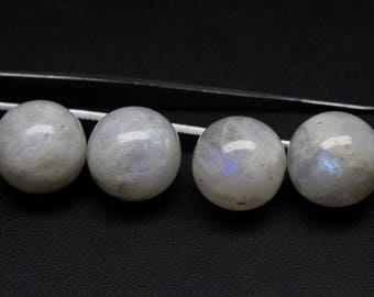 33 Carat Natural Rainbow Moonstone Size- 17 MM Approx 1 PC shape  Round Ball  Cabochon Code- HR03