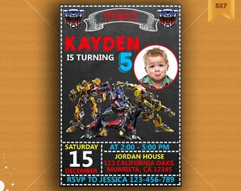 Transformers, Transformers Invitation, Transformers Birthday Invitation, Transformers Birthday , Transformer Invitation,