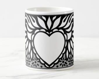 Sacred Heart - Big Coffee Mug Unique Coffee Mug Coffee Lover Gift Gift for Teacher Wedding Gift Cheap Christmas Gift Custom Mugs Gift Idea