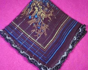 Women Scarf Traditonal Turkish Handmade Ancient Vintage Scarf Shawl One and Only
