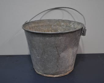 Multi-Use 4 Gallon Galvanized Bucket