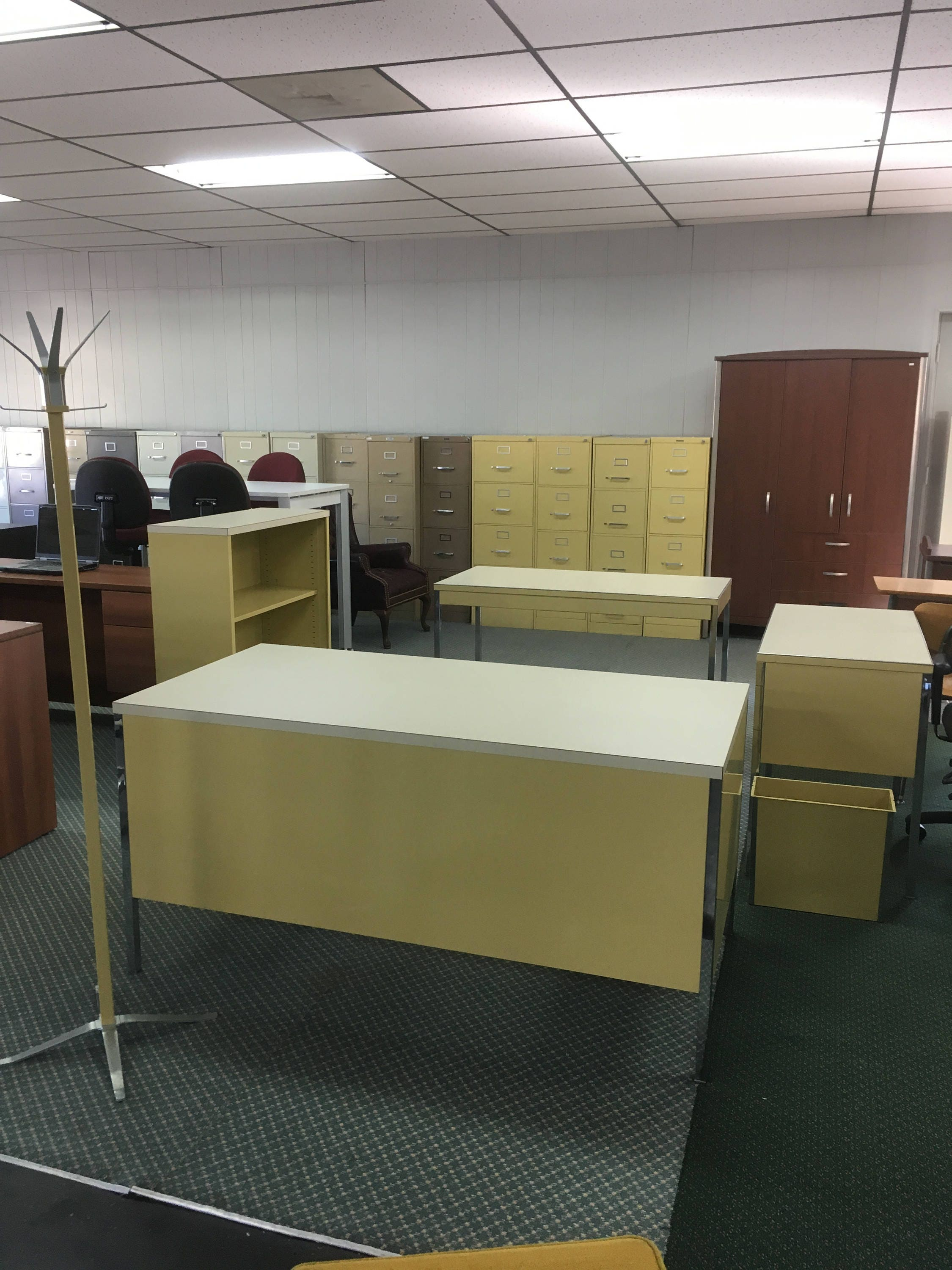 reception furniture quality orange desk qubix hampshire view in yellow left office hand front hof