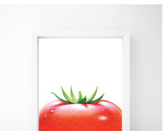 Tomato Print, Food Art, Food Print, Kitchen Print, Kitchen Wall Art, Kitchen Wall Decor, Printable Wall Art