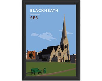 Blackheath All Saints Church SE3 - Giclée Art Print - South London Poster