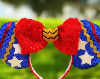 Wonder Woman Minnie Ears