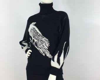 1980s knit turtle neck, 80s Avon knit sweater