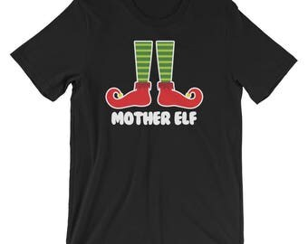 Mother Elf Family Portrait Christmas Picture Greeting Cards