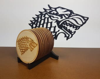 Coaster Holder Stand - Winter is Coming