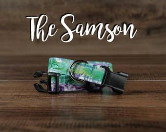 The Samson - Fabric Dog Collar - Adjustable Collar - Custom Fabric