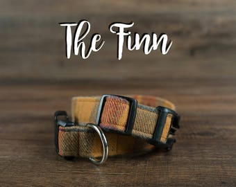 The Finn - Fabric Dog Collar - Adjustable Collar - Custom Fabric