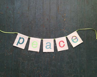 PEACE banner (Living Room Series)