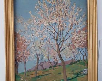 Impressionist painting 1902 landscape signed