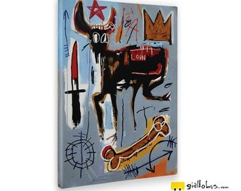 Modern paintings-Jean Michel Basquiat-LOIN-Yellow BUS
