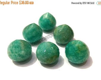 50% OFF Natural Amazonite Faceted Handmade Onion Shape Inerted Half Drill 16x16mm 6 Piece Perfect For Earring