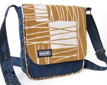 upcycling Shoulder bag jeans/canvas