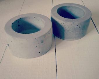 Mini Concrete Planters, concrete pot, concrete pots, concrete planter, concrete design, succulent pot, succulent planter, cactus planter