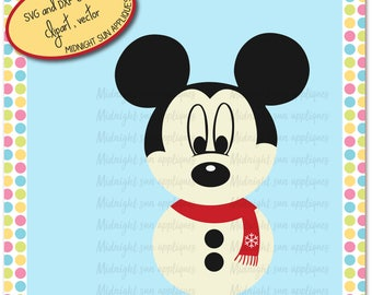 Christmas mickey mouse svg,mickey mouse svg,snowman svg,christmas,cuttable,cut outs,christmas decoration svg,SVG,DXF,EPS,jpg,clipart