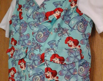 CLEARANCED! Size Med Weighted Vest for Child w/Special Needs and Sensory Issues. Little Mermaid Print
