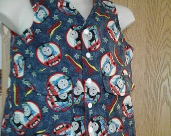 CLEARANCE! Size XS Weighted Vest for Child w/Special Needs and Sensory Issues. Thomas the Train Print