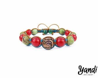 Mens bracelet , Mens shamballa bracelet , Mens jewelry , Bohemian bracelet , Mens beaded bracelet , Boho bracelet , Tribal bracelet ,For him