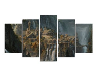The Lord Of The Rings Fantasy Canvas Print 5 Panels
