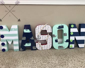 Whale Nursery Letters M2M Cloud Island By The Sea Nursery collection