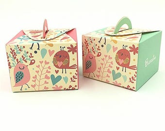 Bird Baptism Favors Box, Birds Baby Shower Favors, Communion Favor Box, Bird Christening Favors, Christening Candy Boxes, Kids Party Favors