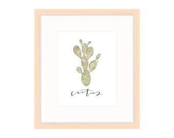 Watercolor Print   Cactus Print   Calligraphy Print