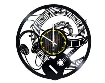 Music Vinyl Record Wall Clock
