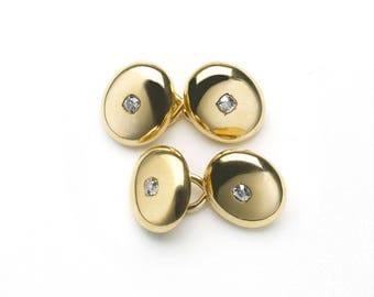 Gold & Diamond Cufflinks