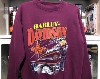 "Vintage 1995 Harley Davidson ""An American Icon"" Crewneck"