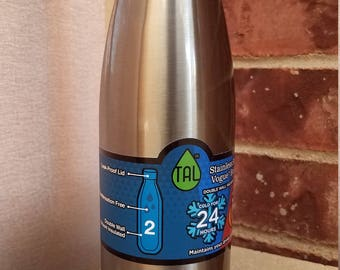 Etched Stainless Steel Bottle (17oz)