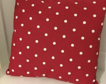 Red and White Polkadot Cushion