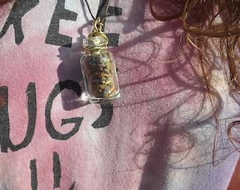 Bottled Crystal Tiger's Eye  Necklace