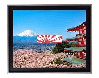 Supreme Japan Relief Box Logo Poster or Art Print
