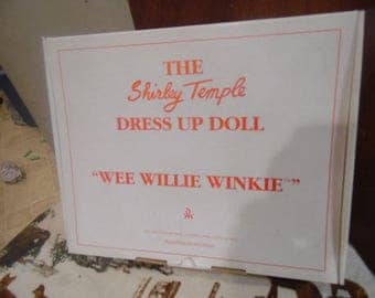 """Danbury Mint Shirley Temple Dress Up Doll Clothes """"WEE WILLIE WINKIE"""""""