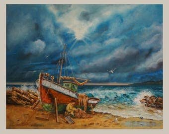 """AFTER THE STORM"""", 100x80cm, Oil on Canvas"""