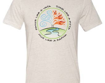 Love Your Dosha-Ayurvedic tee shirt featuring Vata, Pitta and Kapha