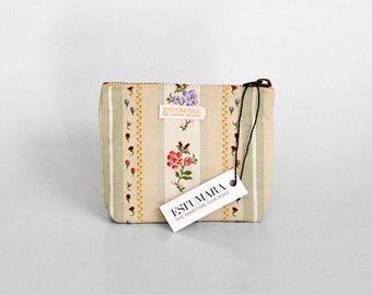 Sa Pagesa Mediterrànea makeup pouch, makeup bag, makeup purse, mediterranean, traditional fabric