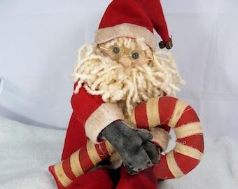 Handmade Santa Doll (Tea Stained)