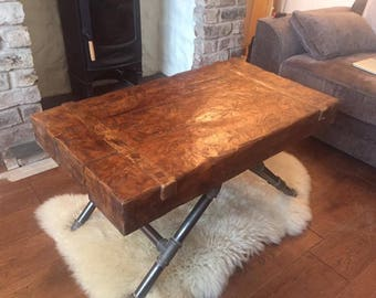 Rustic wooden coffe table