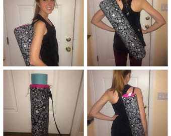 Adjustable Strap Customizable Yoga Mat Bag with Inside Lining
